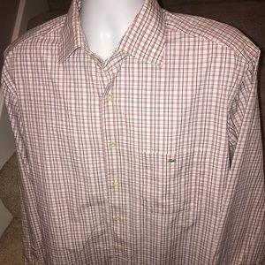 Lacoste Gator men's l/s button casual shirt 45/XL